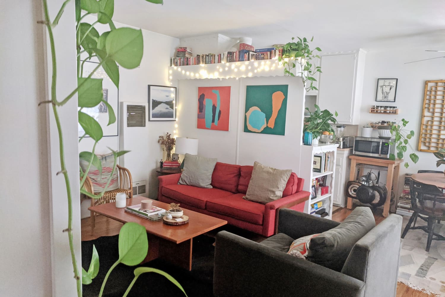 A Shared 450-Square-Foot Rental Apartment Is Small, But Full of Personality
