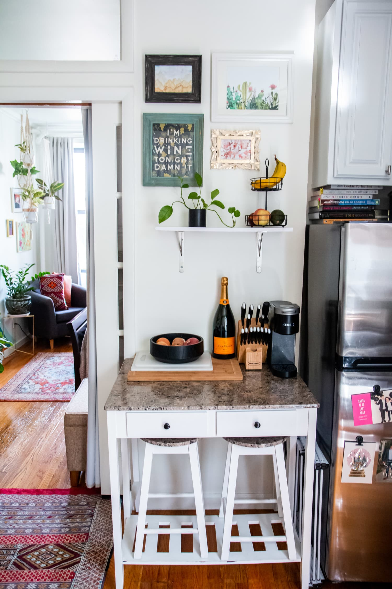 5 Smart Storage Tips You Should Steal from This Tiny New York City Apartment Kitchen