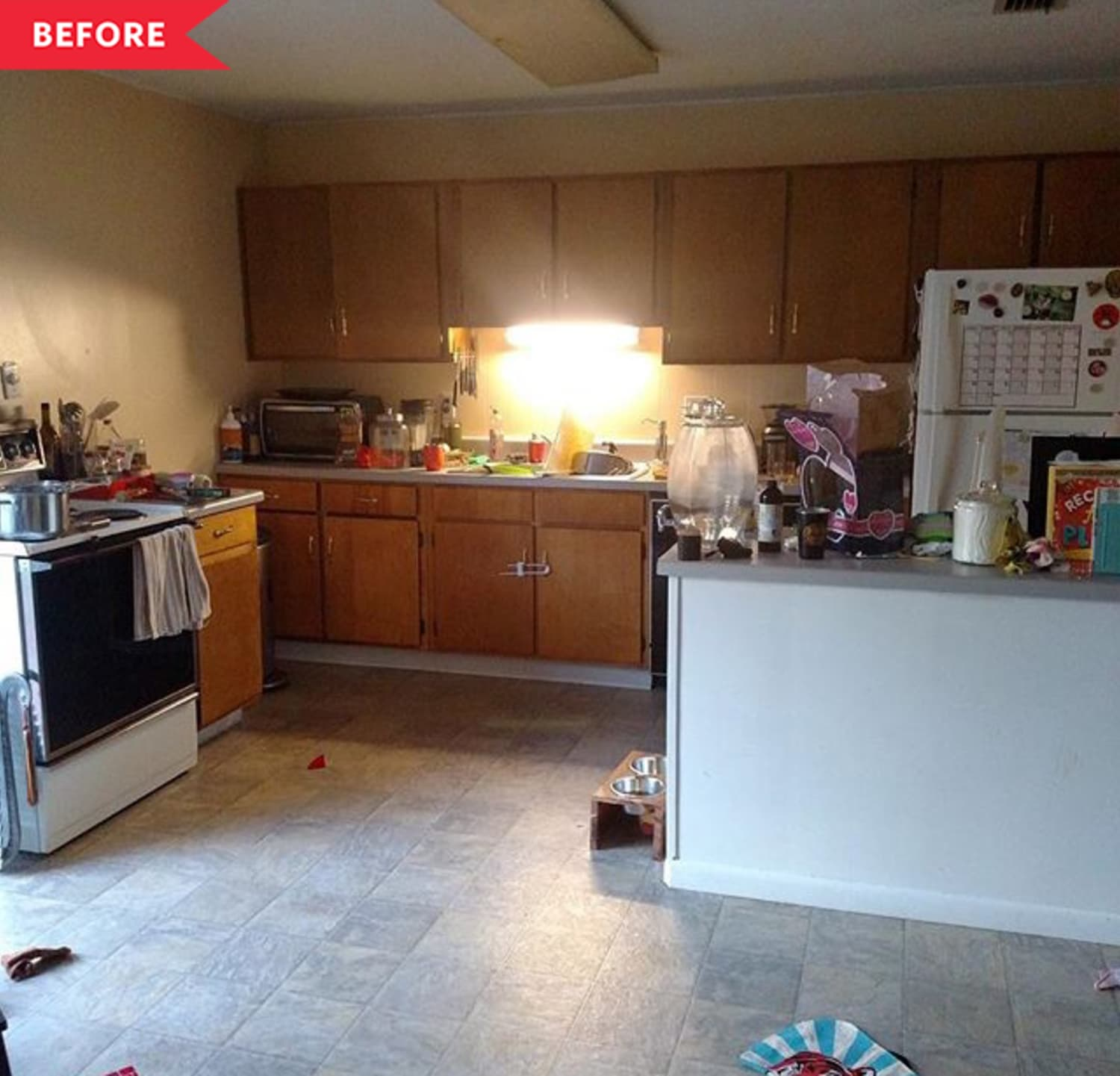 Before & After: A $1000 Rental Kitchen Redo with a Surprising DIY Island