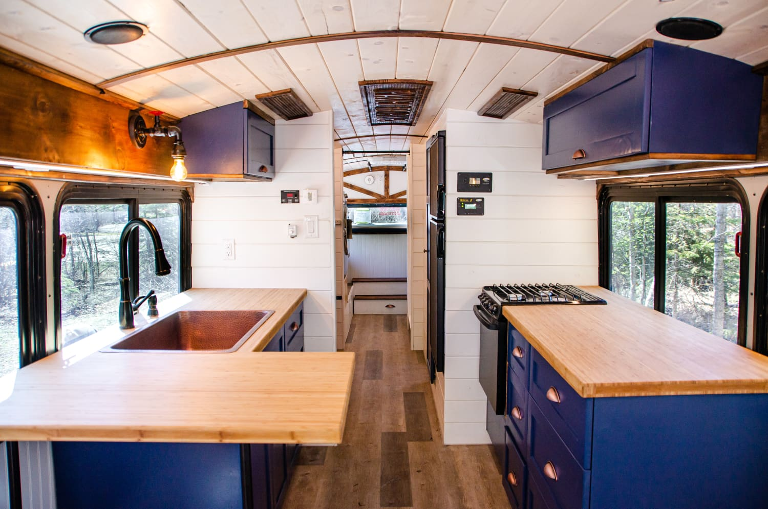 This Former Mining Bus Is Now a Tiny Home on Wheels