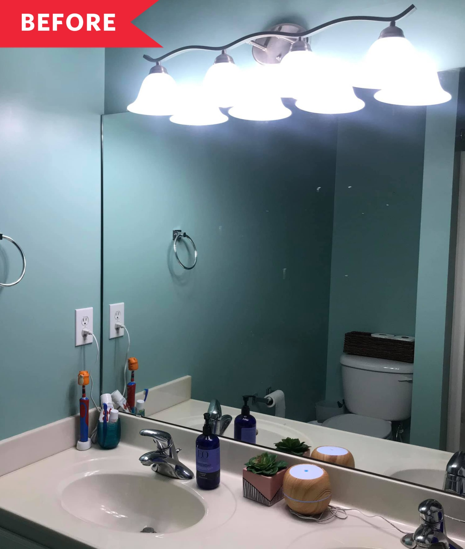 Before and After: This Bright DIY Bathroom Transformation Cost Just $204