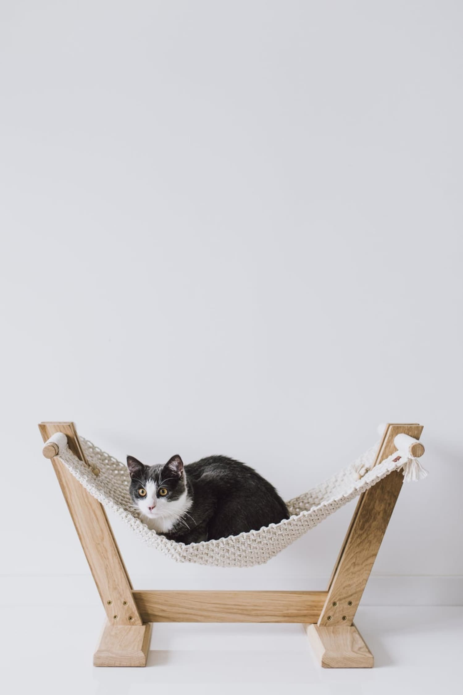 Complement Your Boho Cat's Aesthetic With This Macrame Cat Hammock