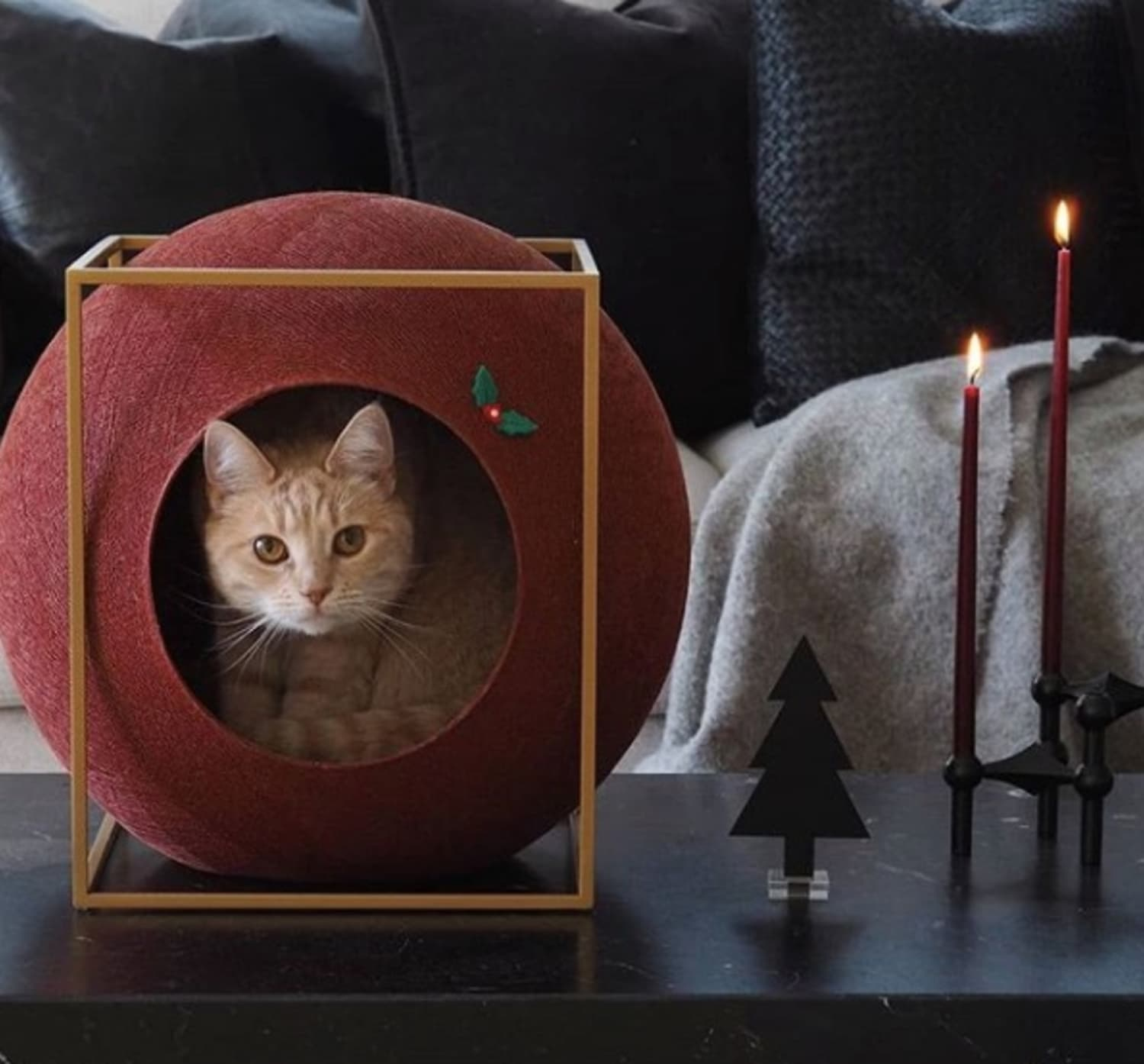 This French Cat Furniture Brand Sells a Rainbow of Cat Cocoons