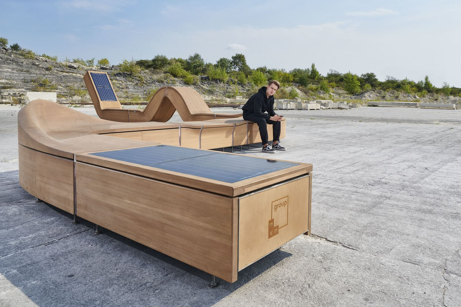 This Statement-Making Smart Furniture Is Powered by Solar Panels (and Will Charge Your Phone)