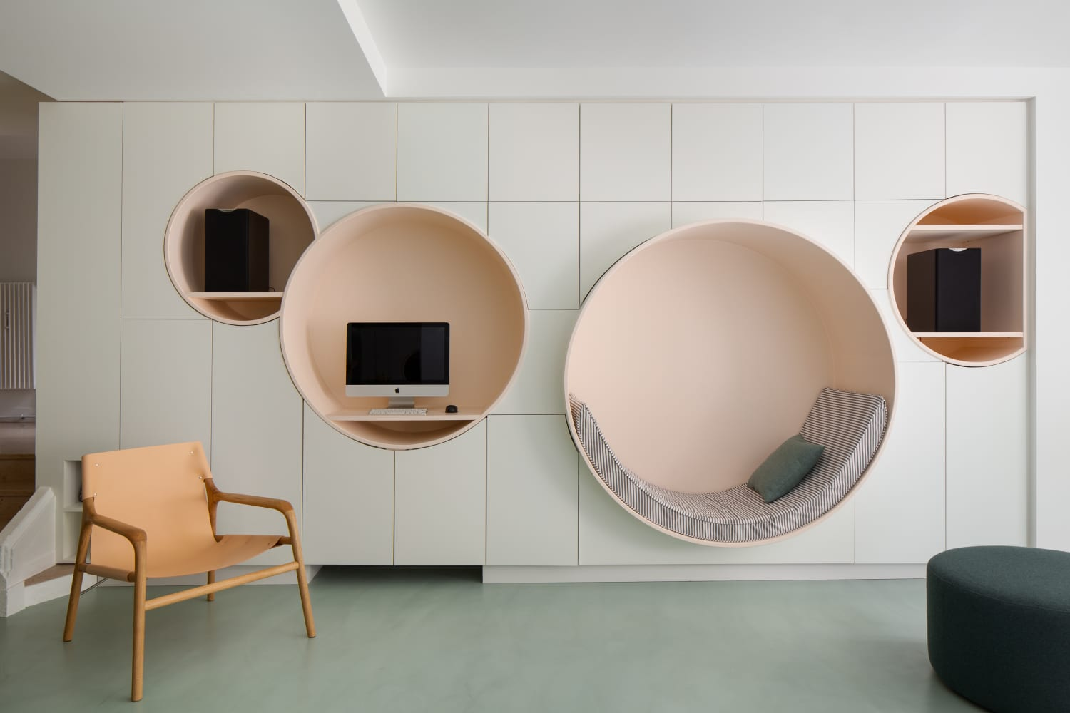 This Ground Level Space in Paris Is Now a Colorful Mid-Century-Inspired Apartment