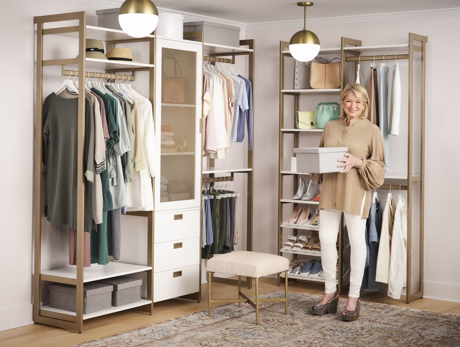 Martha Stewart Just Launched a Closet and Storage Collection Geared Toward Renters