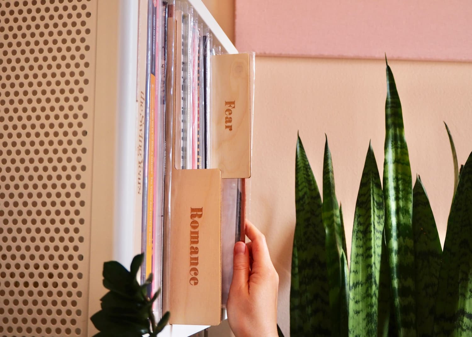 These Wooden Record Dividers Let You Sort Your Collection By Feelings