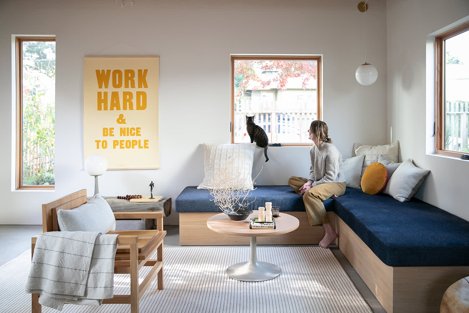 """Schoolhouse Just Released a New Version of Their Iconic """"Work Hard & Be Nice to People"""" Print"""
