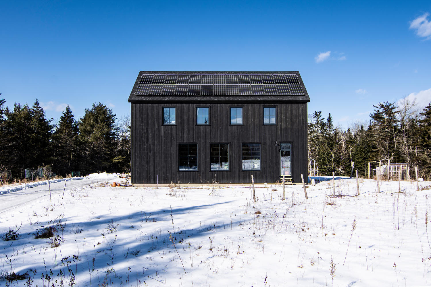 Look Inside: This Contemporary Barn in Maine Borders Blueberry Fields