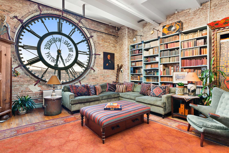 Look Inside: This Jaw-Dropping Brooklyn Loft Has a Gigantic Clock Window
