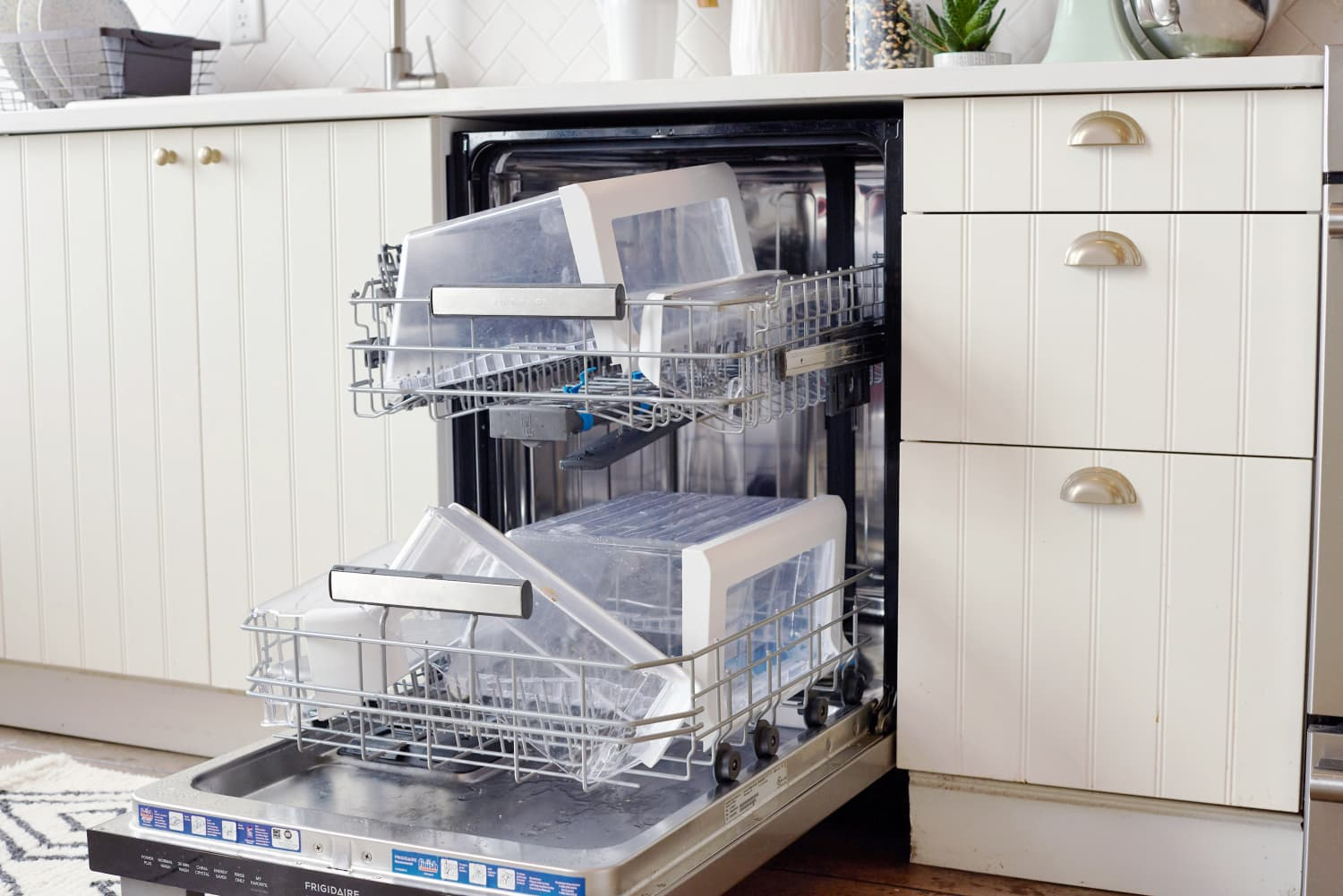 You Should Clean Your Fridge Shelves in the Dishwasher
