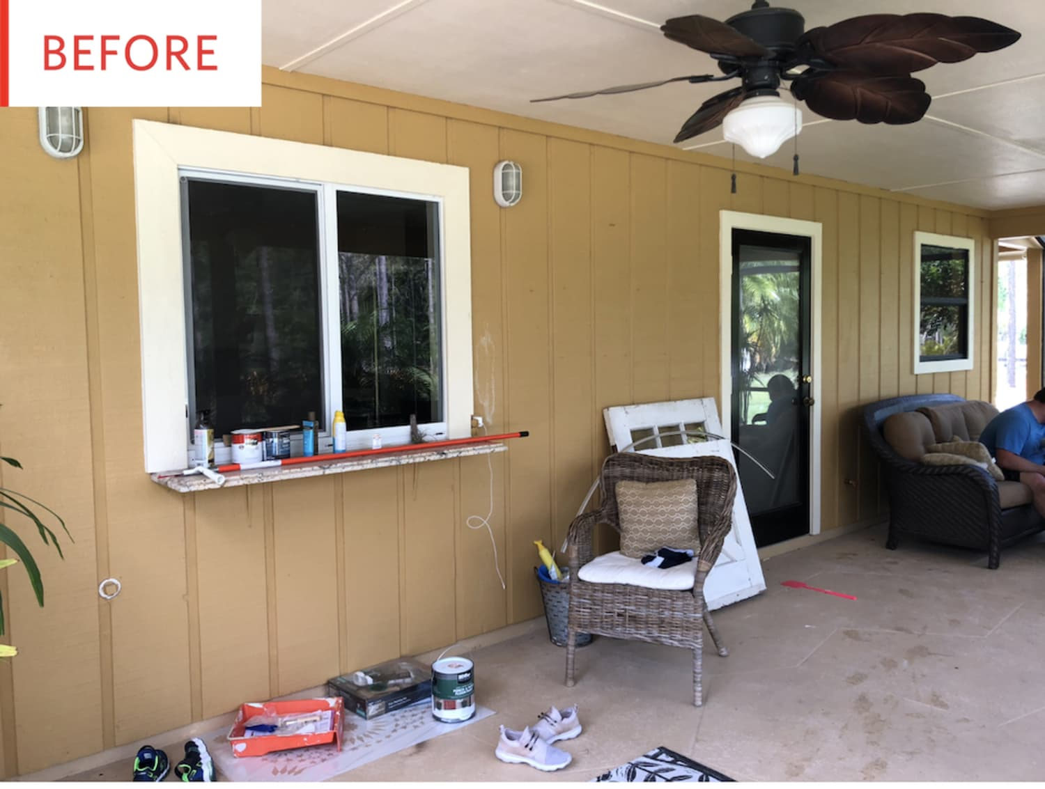 Before and After: This Patio's Major Makeover Is Thanks to Paint—Seriously