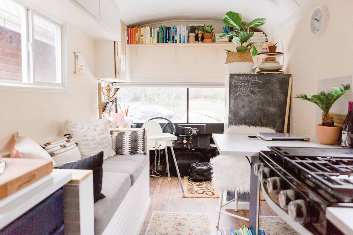 A Family of Three Snuggles into a 200-Square-Foot Modern Minimalist Tiny House on Wheels