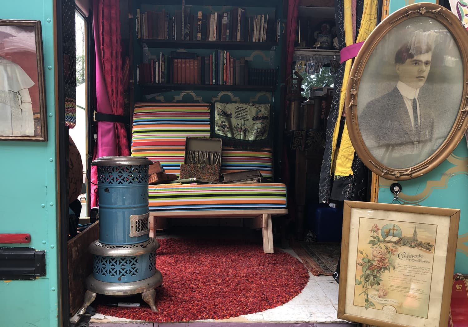 This Maximalist Minibus Might be the Most Colorful Tiny Home on Wheels
