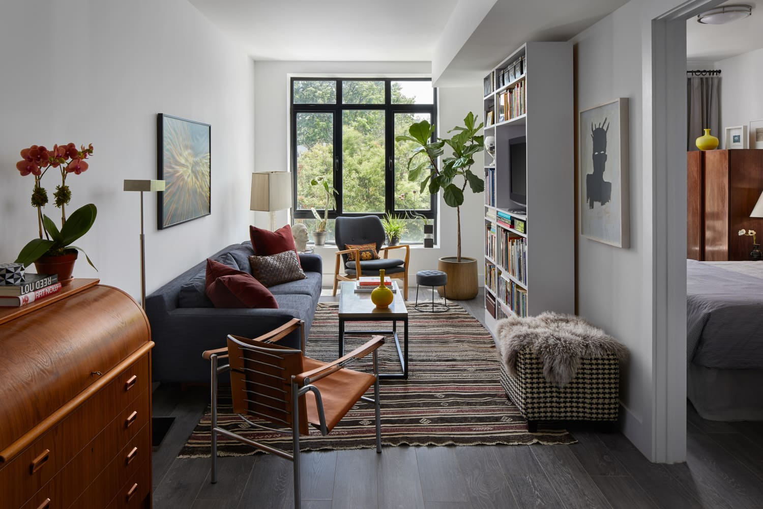 This Brooklyn Home Flawlessly Masters an Incredibly Long and Very Narrow Living Room