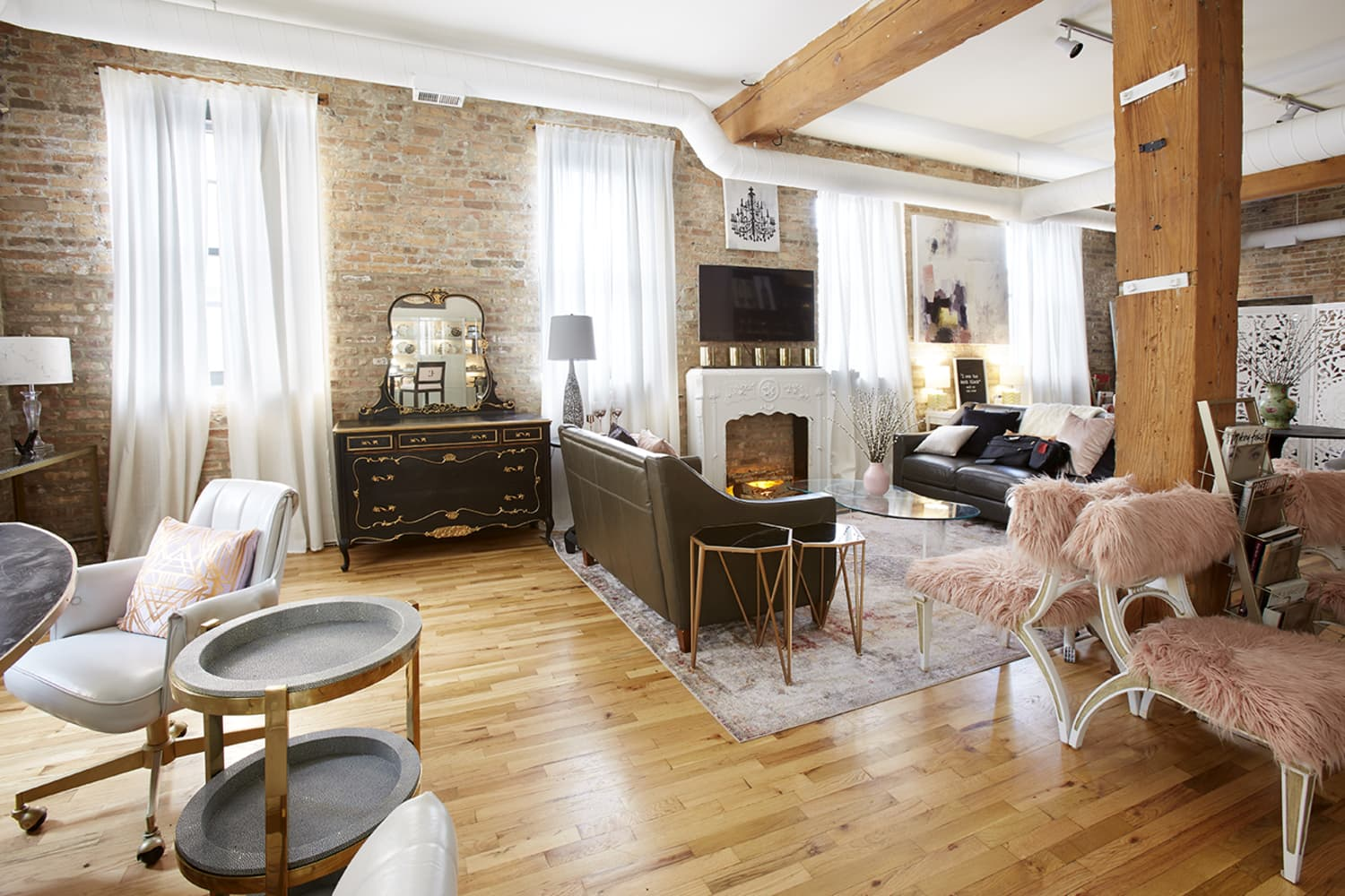 See Why This Makeup Artist Calls Her Glam Chicago Home a 'Loftice'