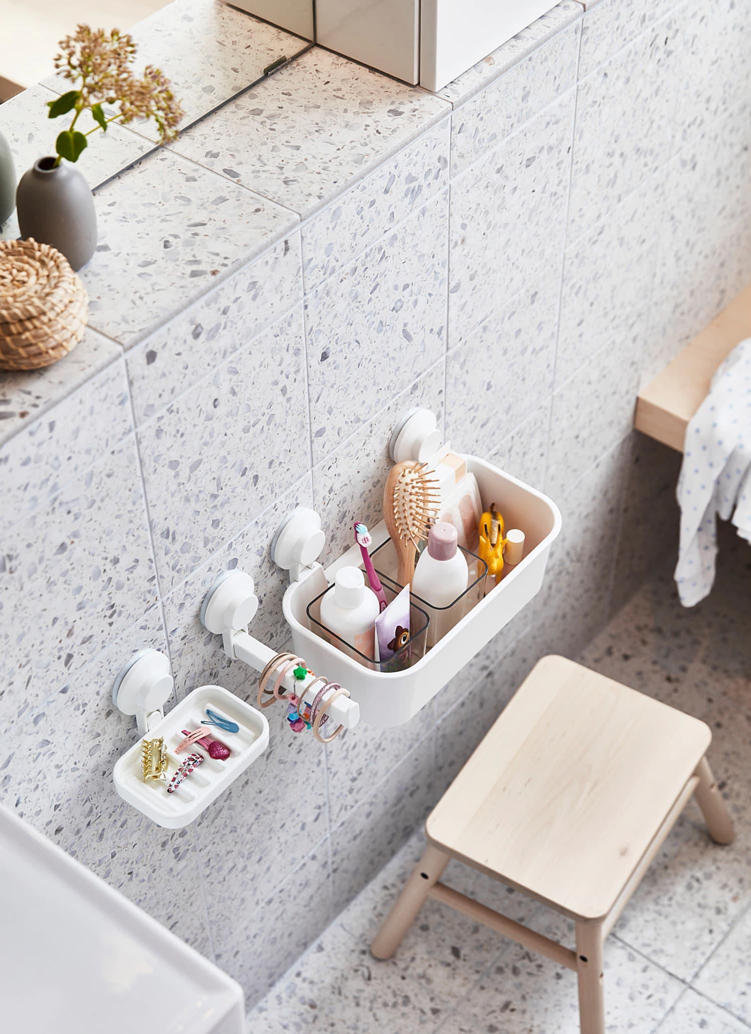 12 Drill-Free, Renter-Friendly Ways to Organize Your Bathroom