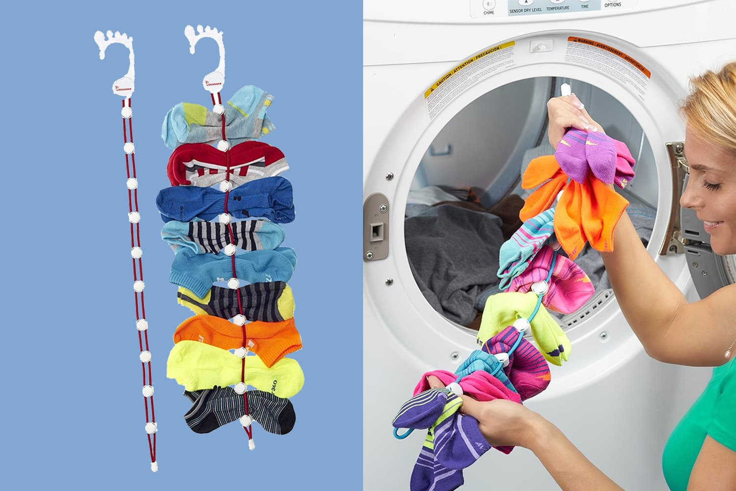 """The $16 """"SockDock"""" Solves the Most Annoying Laundry Problem"""
