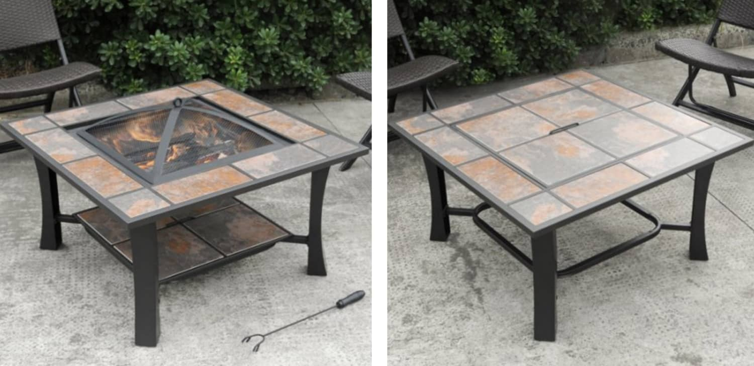 S'mores Lovers Rejoice: Amazon Is Selling a Table That Turns into a Fire Pit for $130