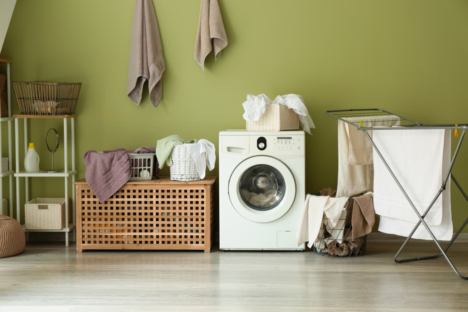 Double Your Laundry Room Storage Space with This Genius Hack