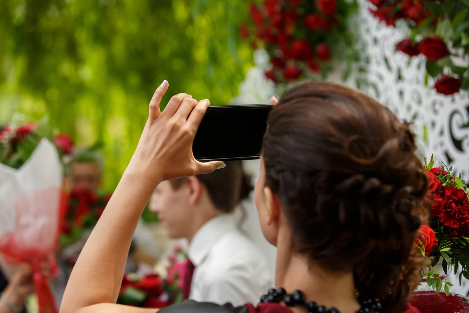 Let This Ruined Wedding Photo Remind You to Keep Your Phone in Your Pocket