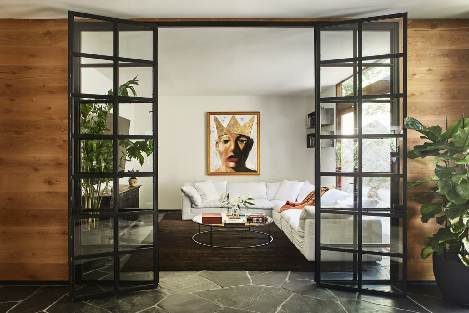 Lee Daniels' Beverly Hills Home Makes Wood Paneling Look Good