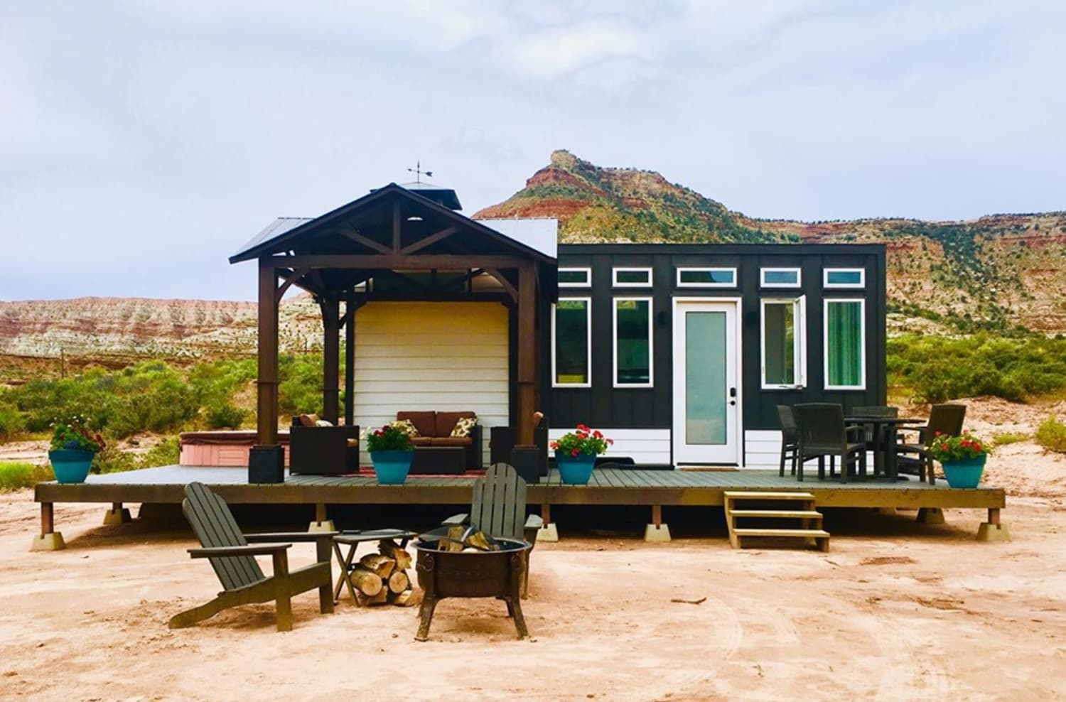 Live Large by Renting This Tiny House with a Private Hot Tub (Yes, You Read That Right)