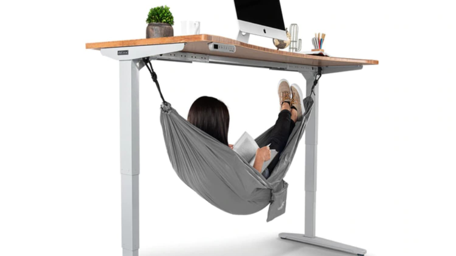 Squeeze in a Quick Nap at Work with This Under-Desk Hammock