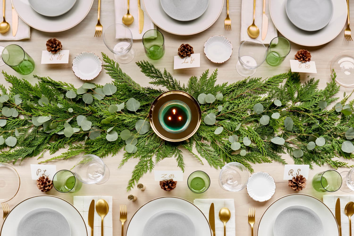Set the Table with This Easy Evergreen Tablescape