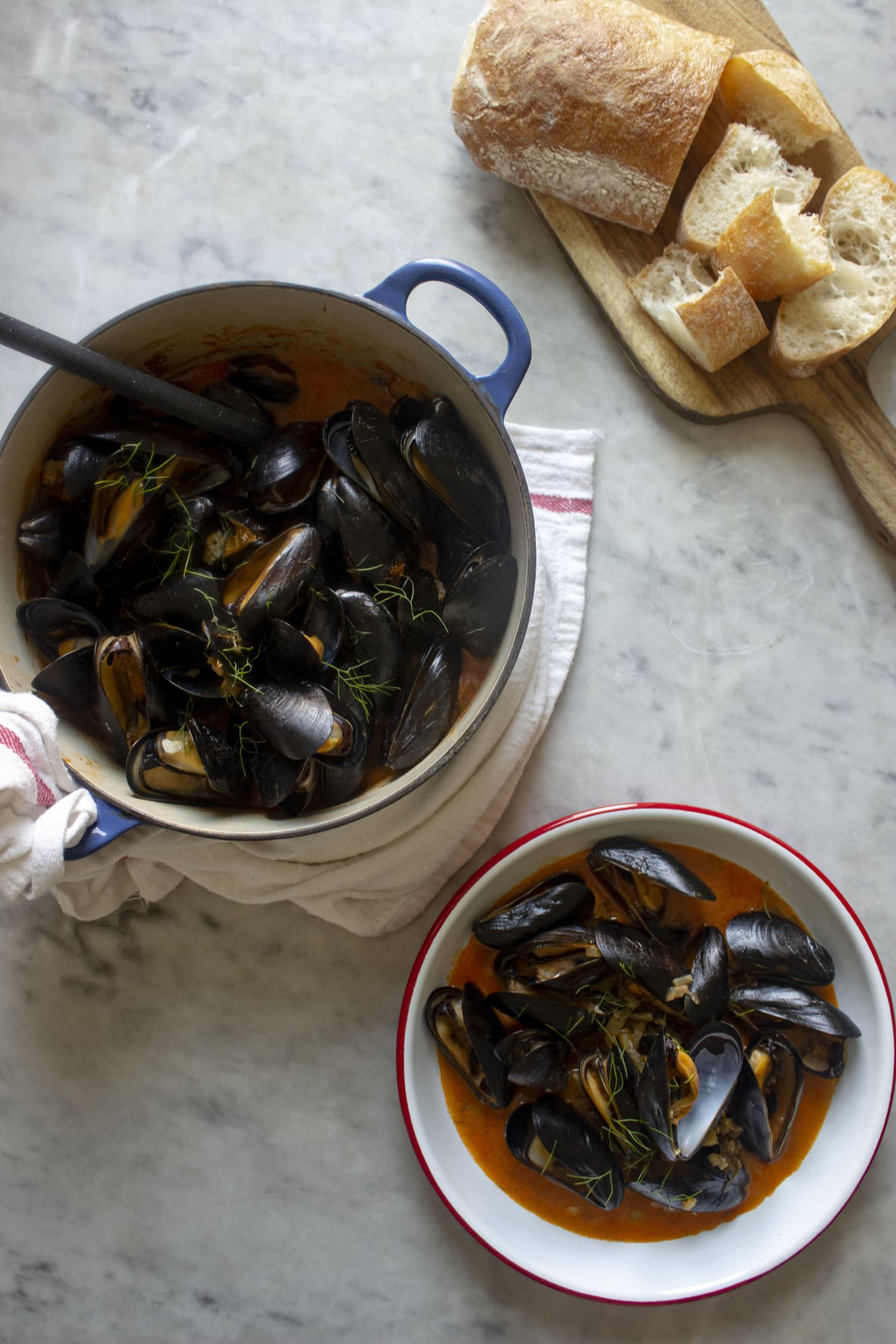 Mussels in Creamy Tomato Sauce Are a Summer Vacation in a One-Pot Meal