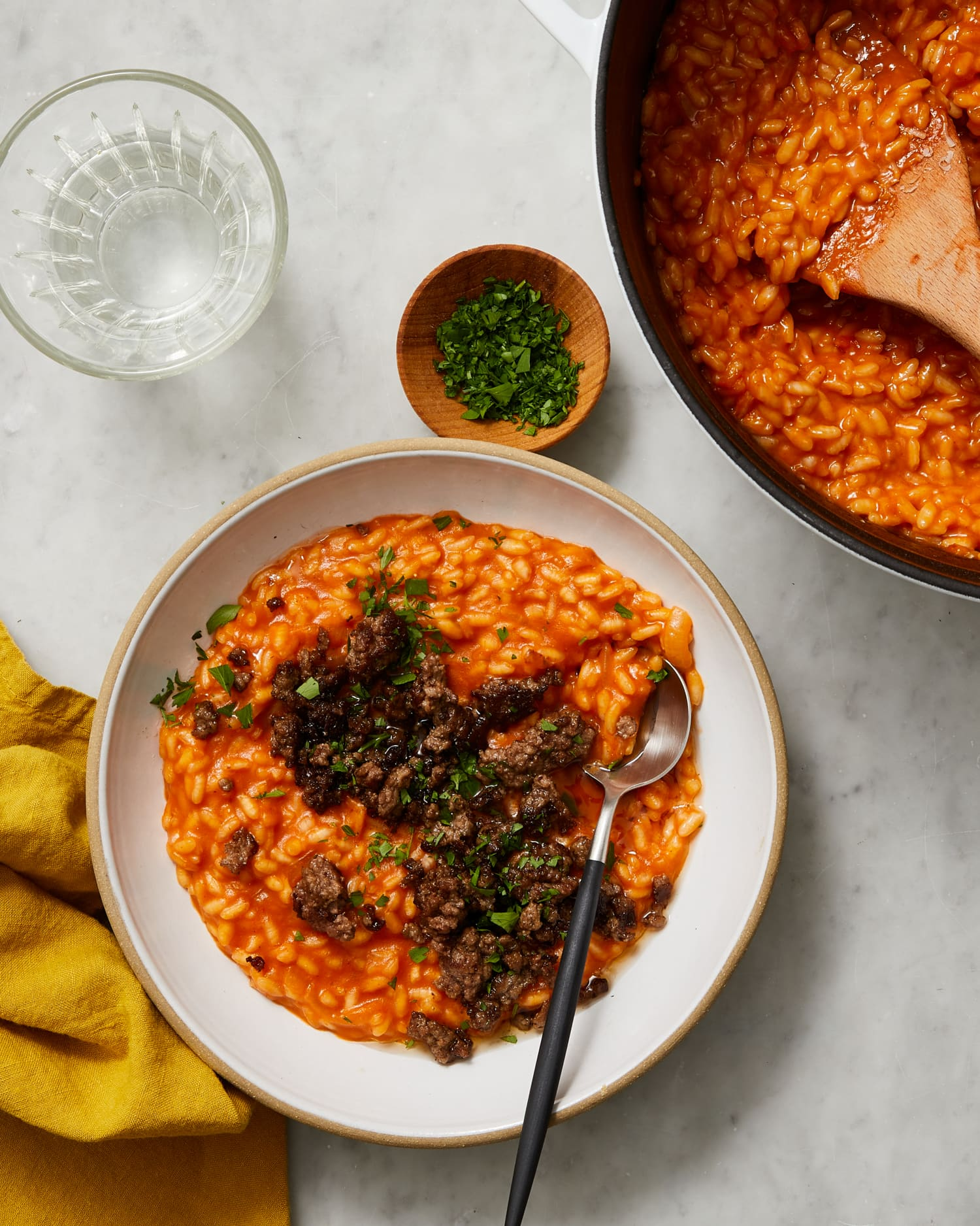 This Crispy Beef and Parmesan Baked Risotto Is Surprisingly Low-Maintenance