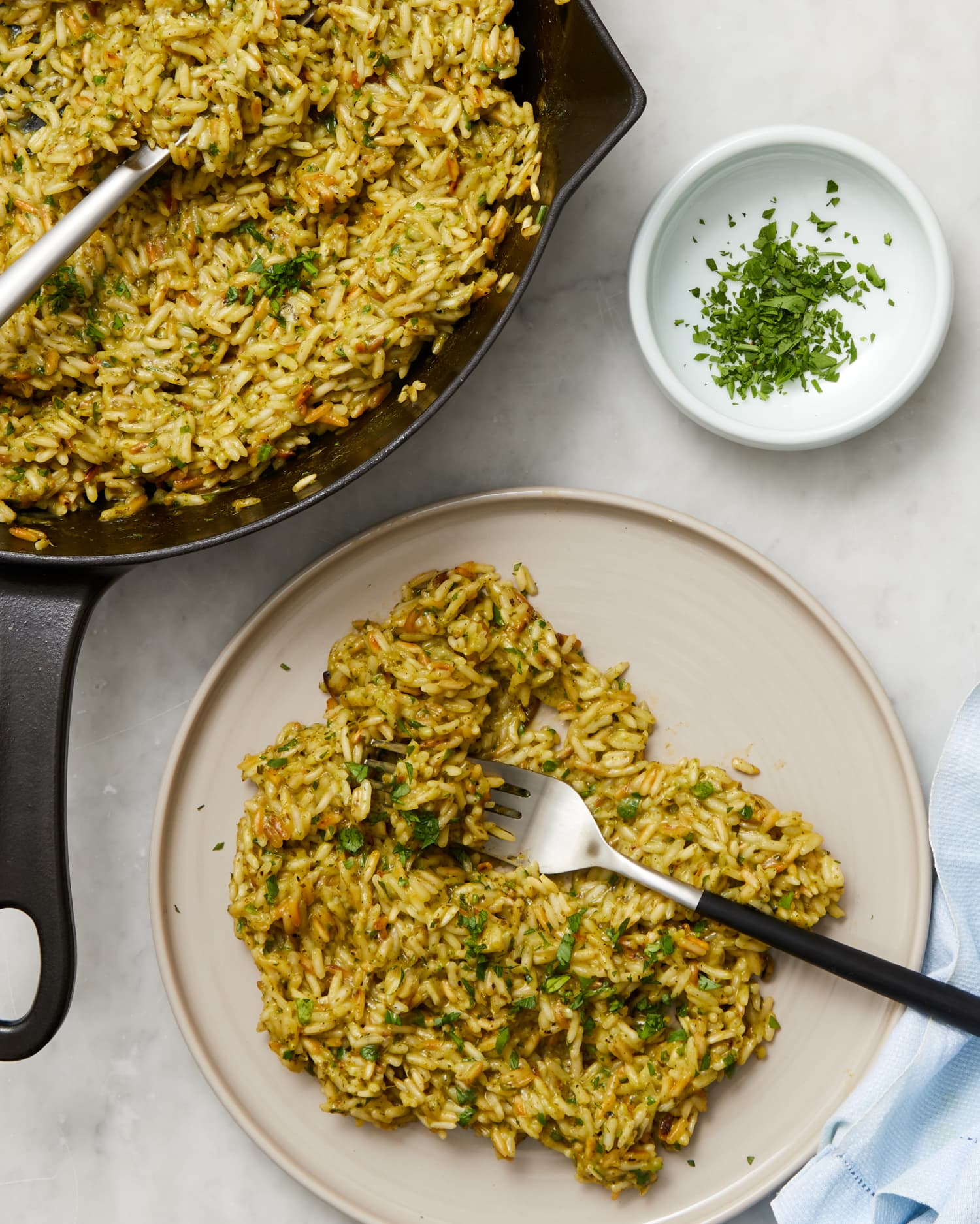 This Green Goddess Rice Skillet Is Gooey Goodness in a Bowl