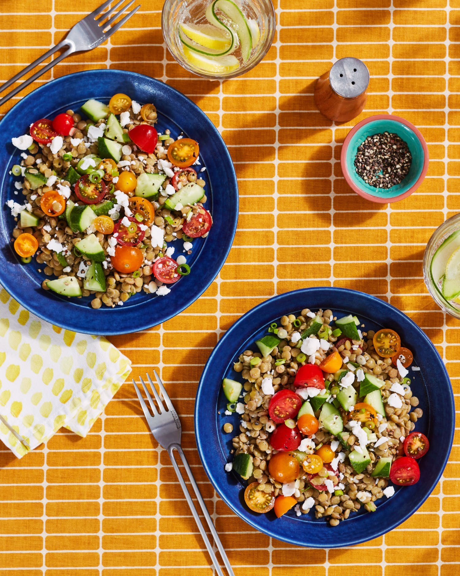 Marinated Lentils and Dairy-Free Feta Crumbles Star in This Fresh, Flavor-Packed Salad