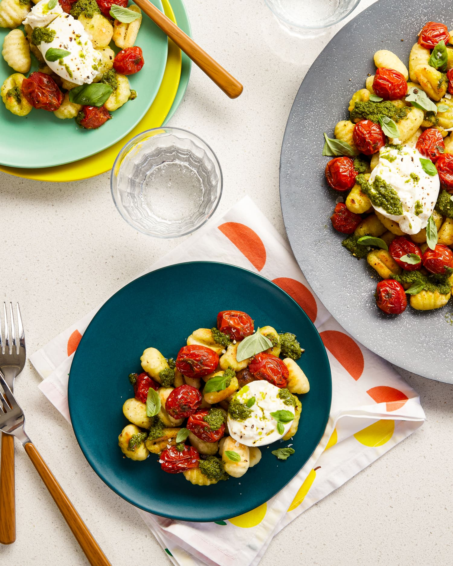 Recipe: Grilled Cherry Tomatoes with Gnocchi and Burrata