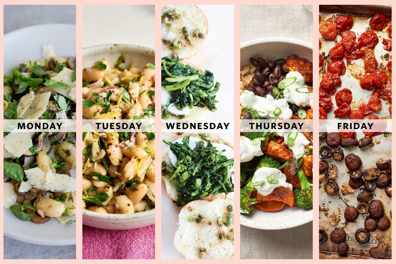 Next Week's Meal Plan: 5 Vegetarian Dinners for One