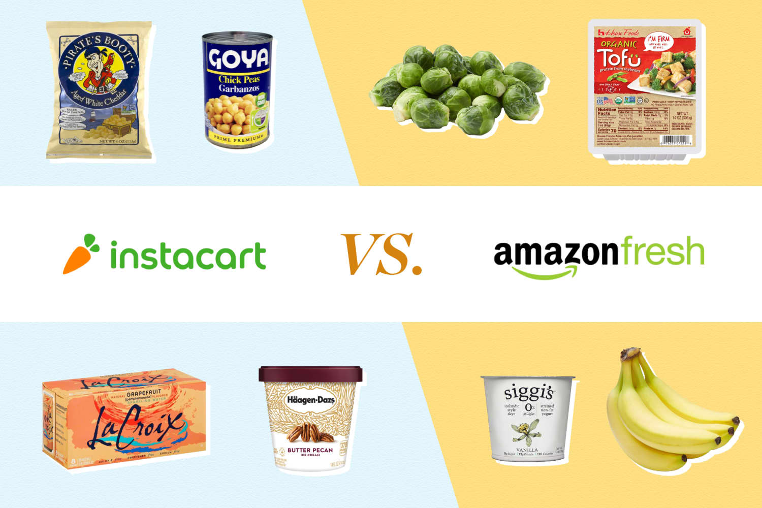 I Compared Prices for 15 Items on Instacart and AmazonFresh
