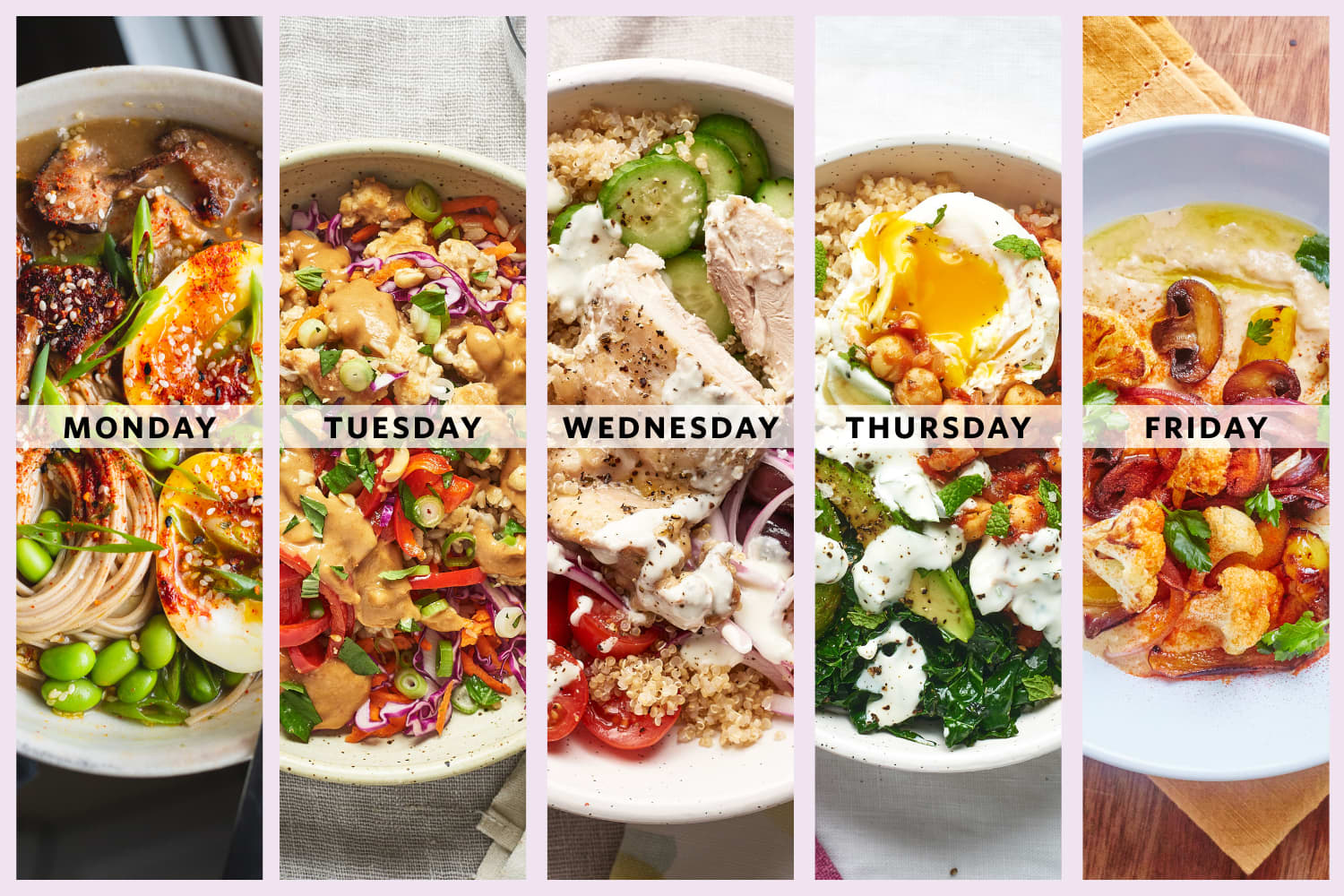 A Week of Easy and Healthy One-Bowl Meals