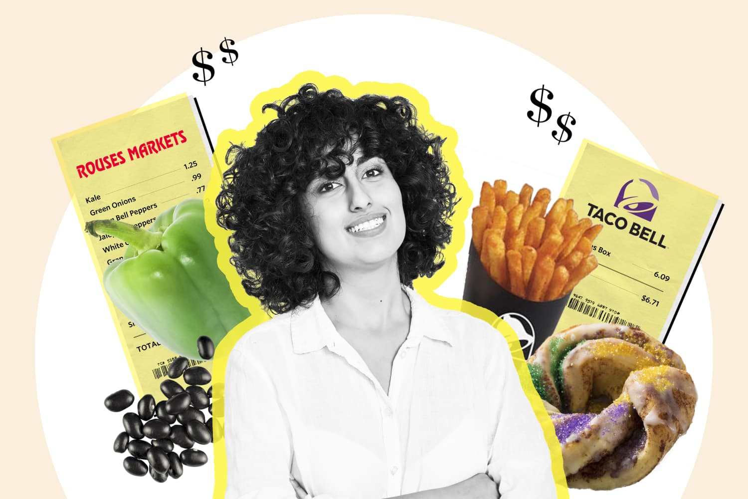 How a Teacher in New Orleans Spends $56 a Week on Food and Drinks