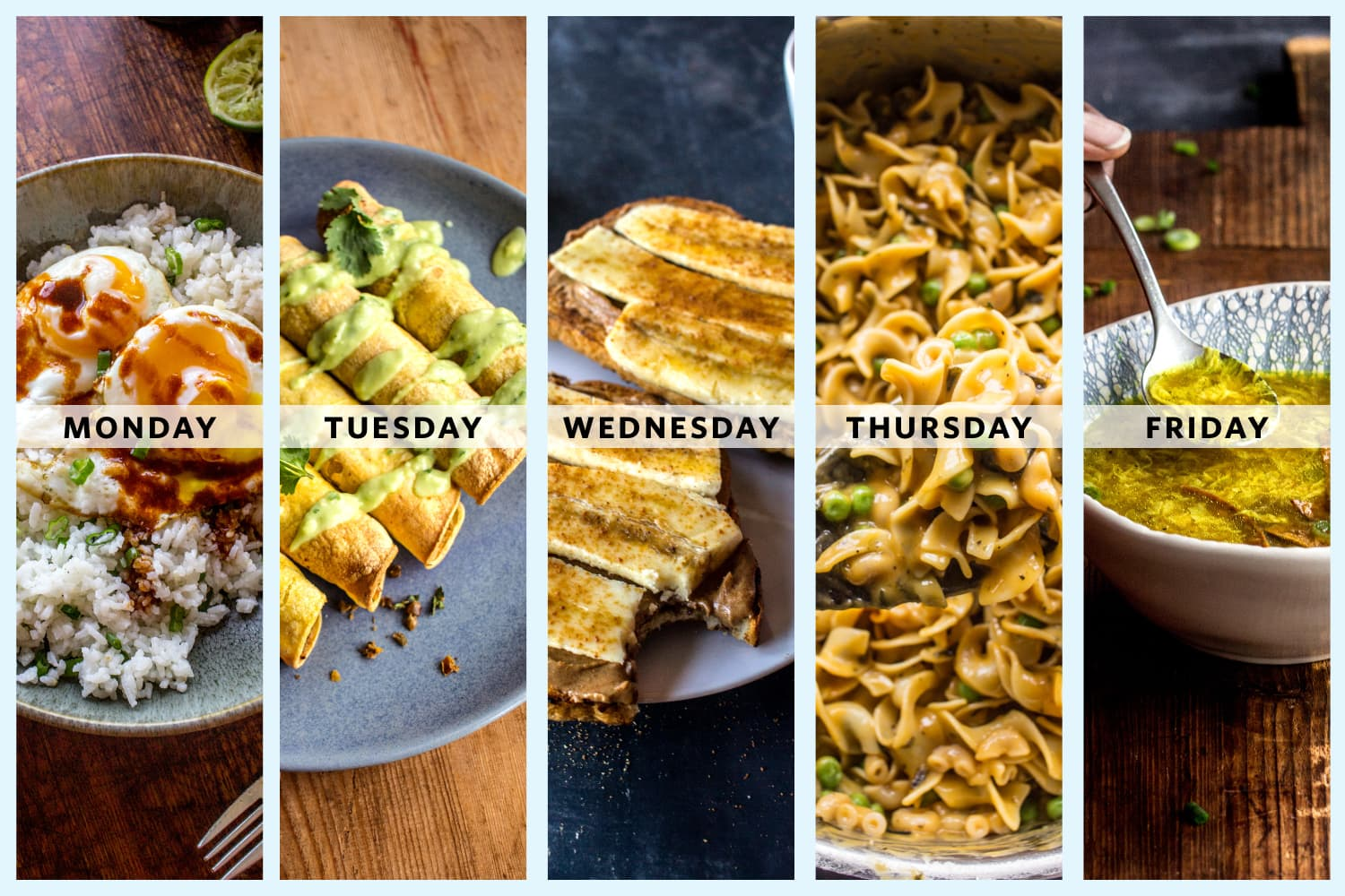 A Week of Budget-Friendly Vegetarian Dinners from Jerrelle Guy