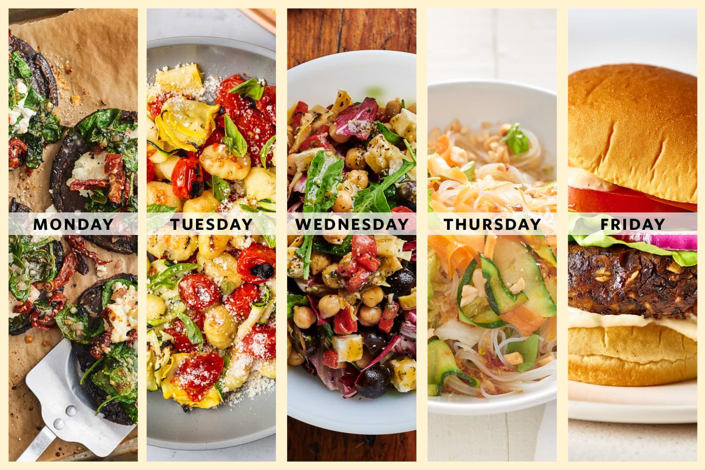 A Week of Easy Vegetarian Summer Dinners