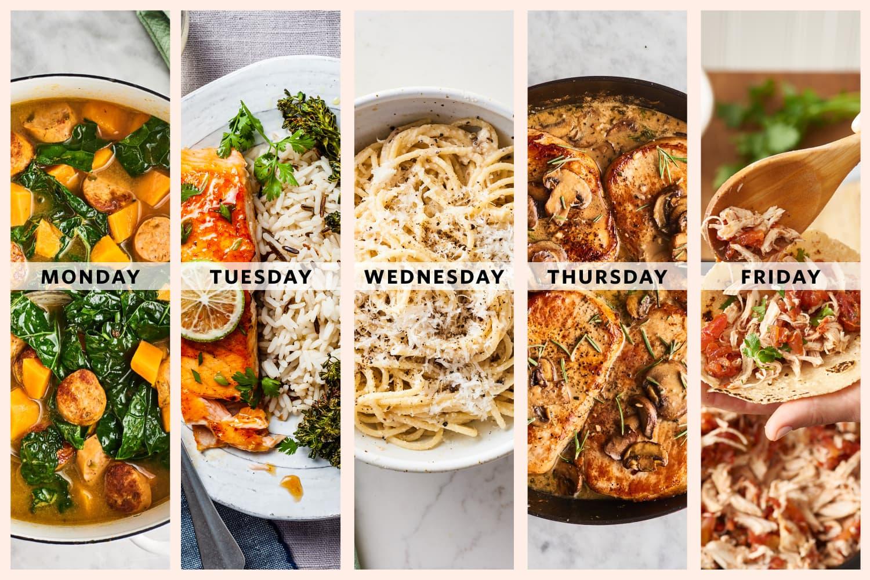 A Week of Easy 5-Ingredient Dinners