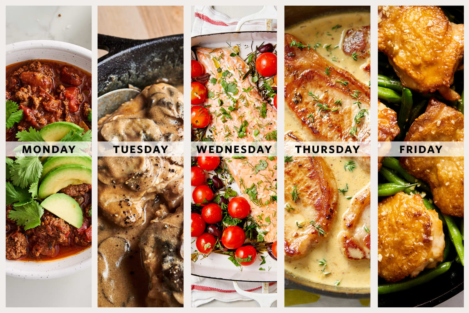 A Week of Easy Low-Carb, High-Protein Dinners