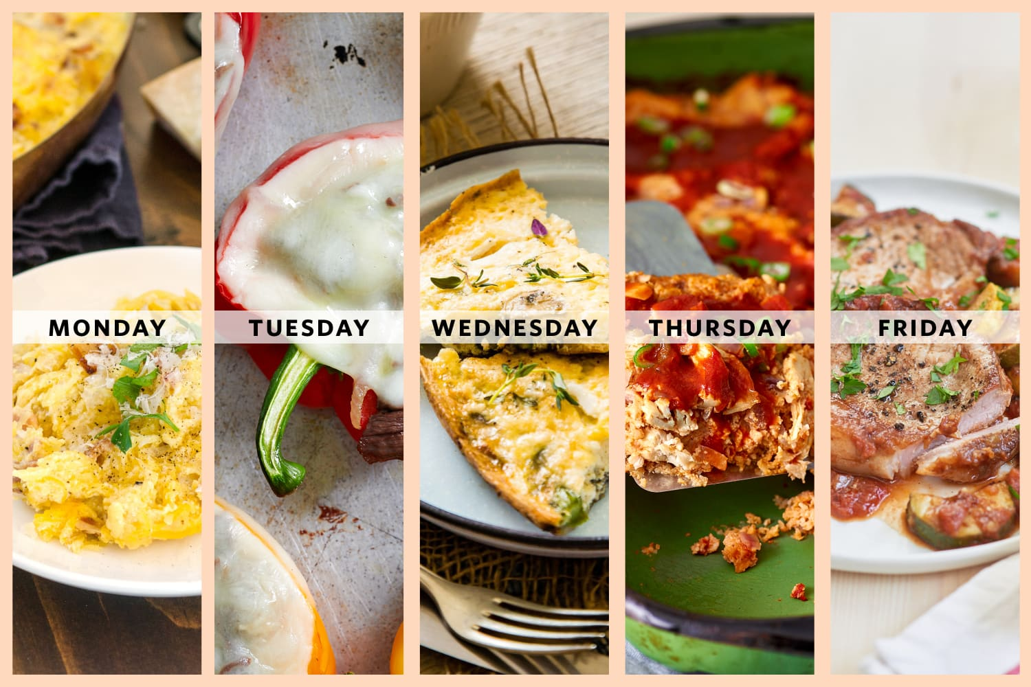A Week of Low-Carb Dinners Packed with Vegetables
