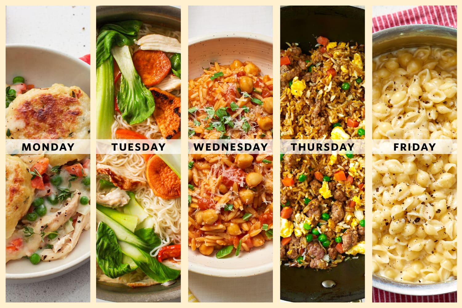 A Week of One-Pot Dinners for Busy Parents