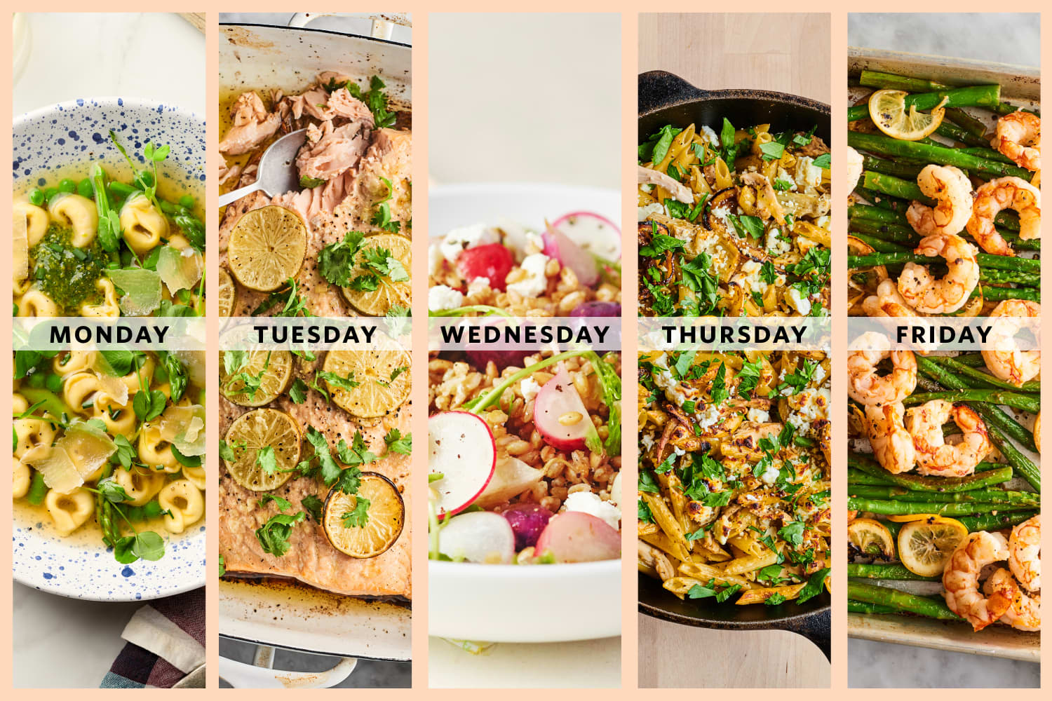 A Week of Easy Dinners to Get You Excited for Spring