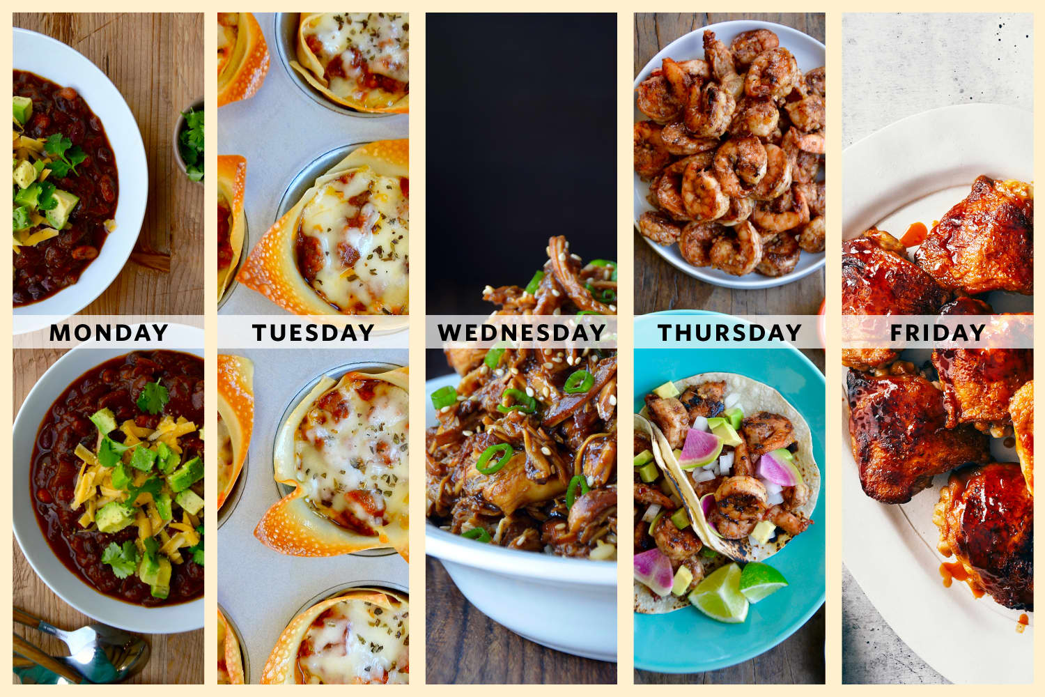 A Week of Easy Family Dinners from Kelly Senyei of Just a Taste