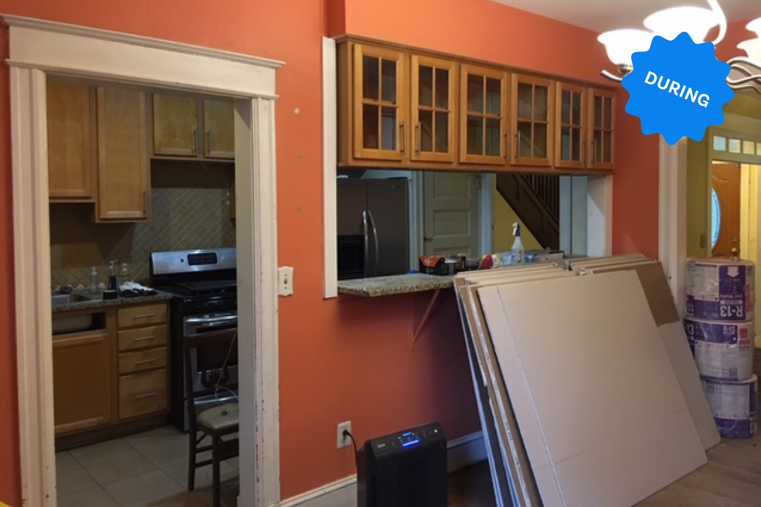 Before & After: This 100-Year-Old House Gets a New Kitchen with an Open Concept and Stunning Cabinets