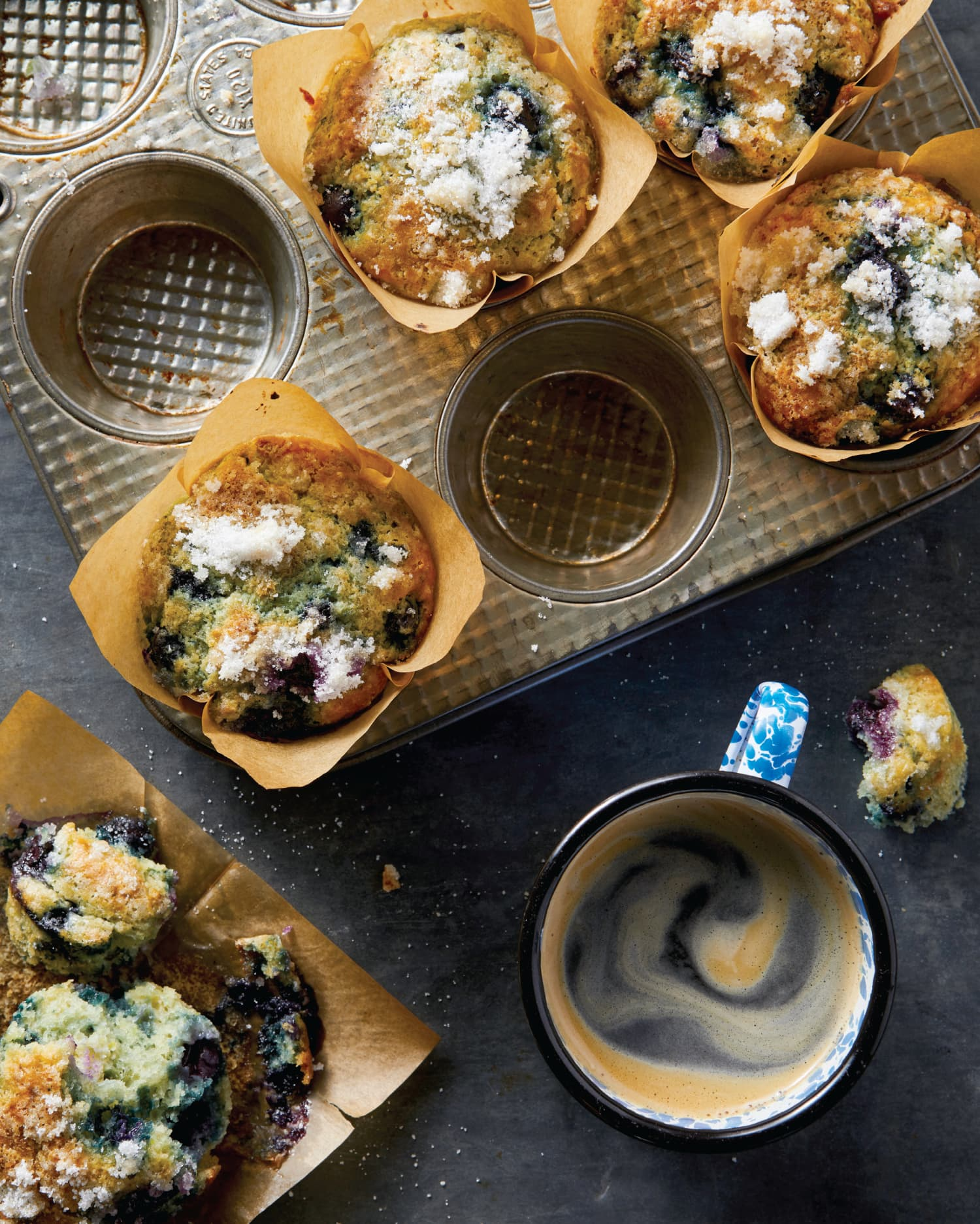 Scone-Top Blueberry Muffins Are the Best of Both Worlds