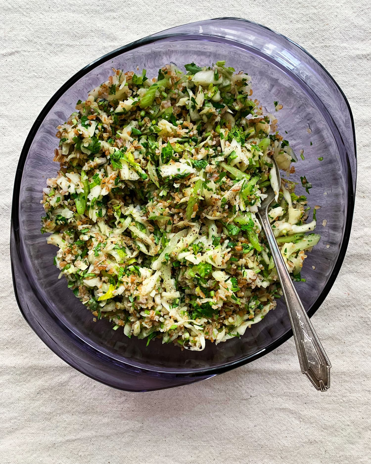 This No-Wilt Cabbage Tabbouleh Is the Perfect Work-from-Home Lunch