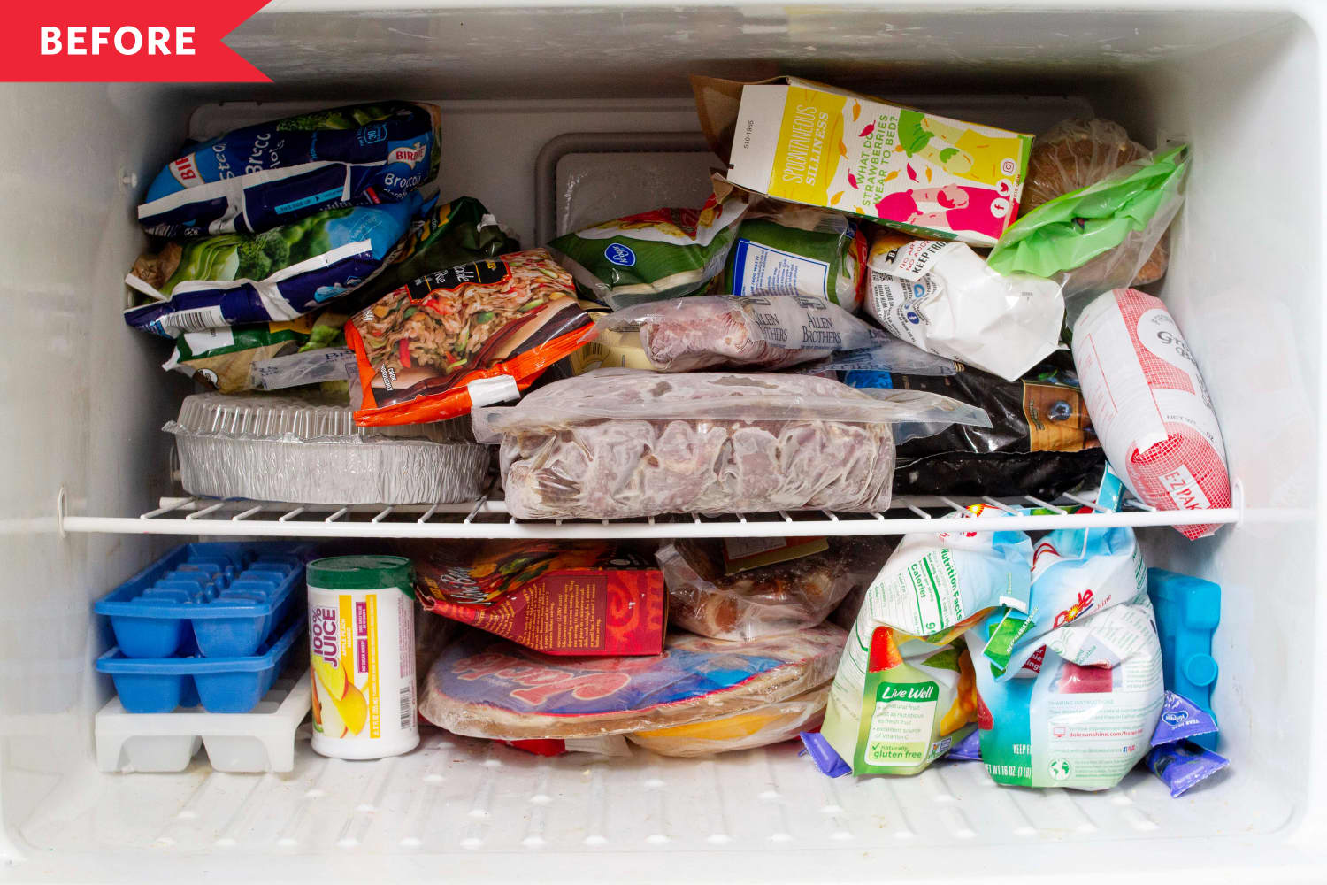 I Organized My Messy Freezer with a Single Trip to the Dollar Store